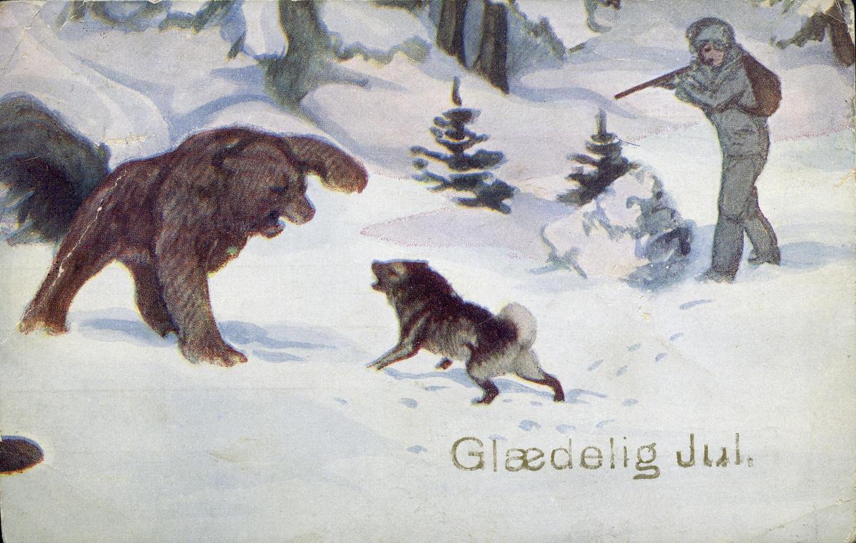 Postkort med bjørnemotiv