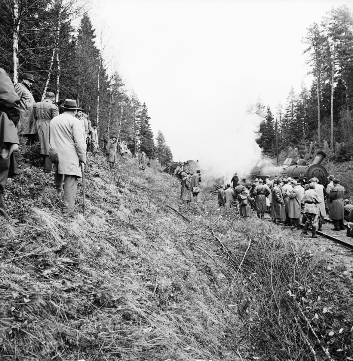 Sprängning vid Galtåsen. SJ B5 888