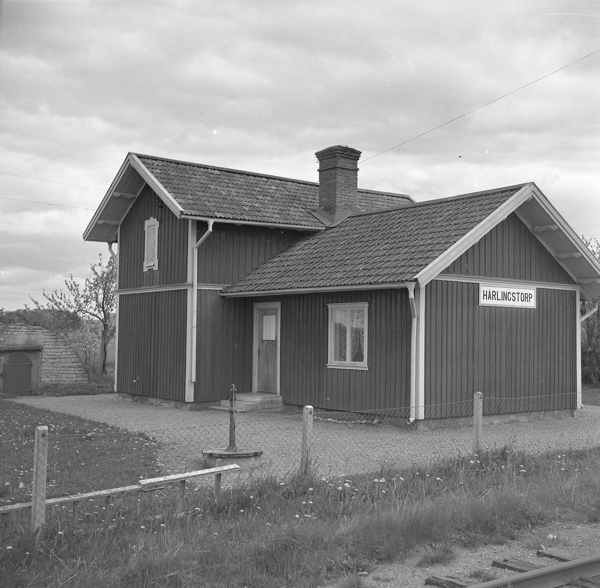 LSSJ , Lidköping - Skara - Stenstorps Järnväg Håll- och lastplats. Bispår till Röde Mosse torvfabrik