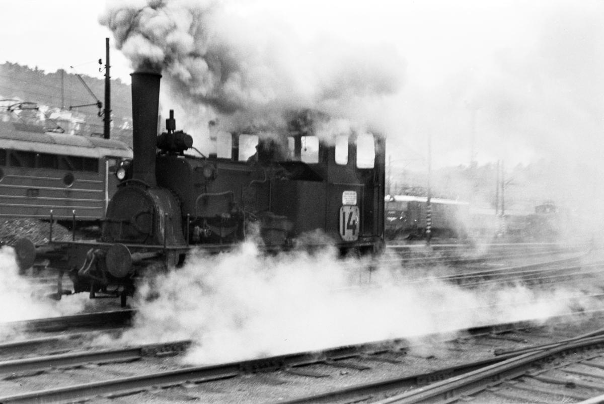 Damplokomotiv type 7a nr. 34 i skiftetjeneste i Lodalen i Oslo.