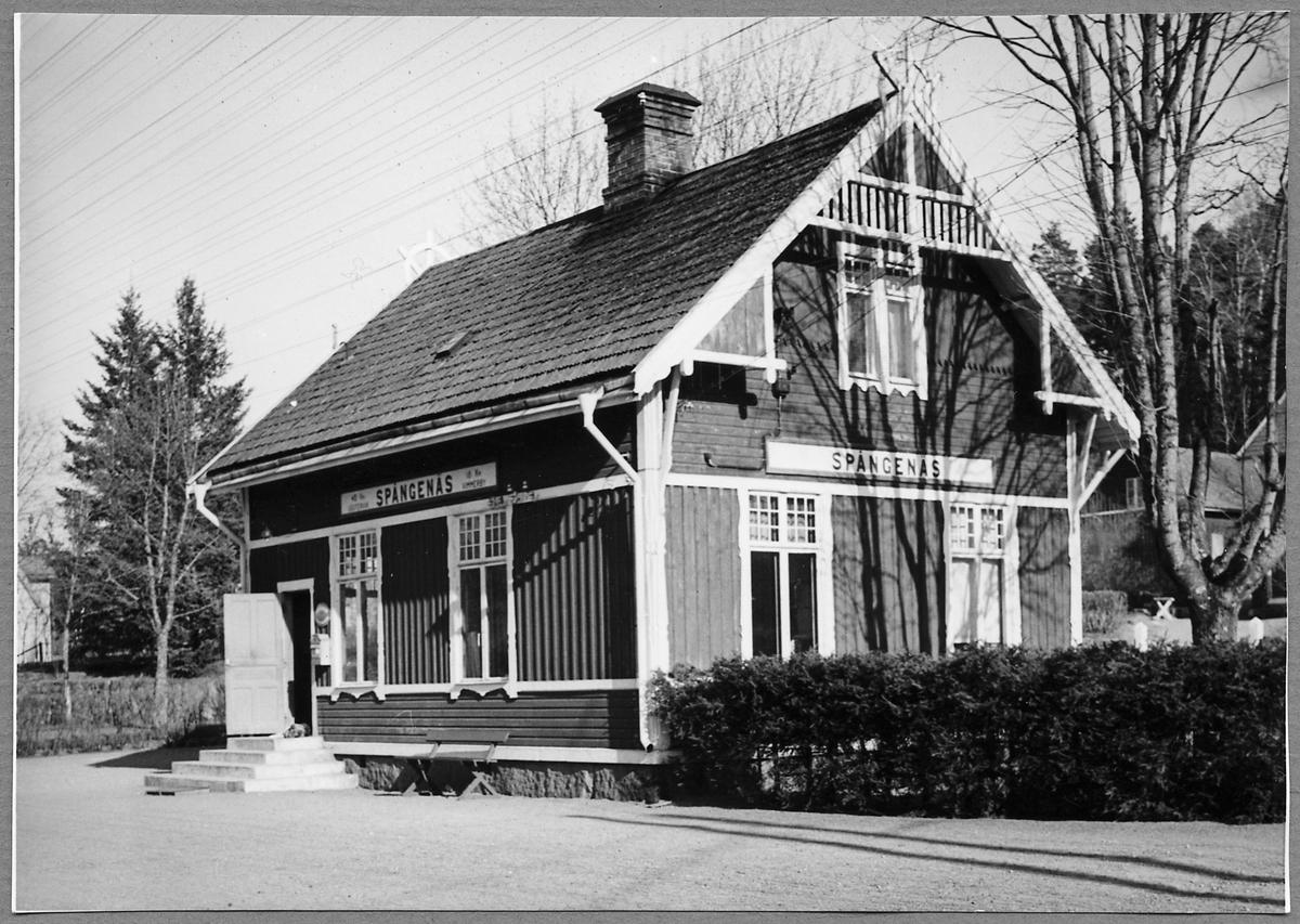 Spångenäs Järnvägsstation.
