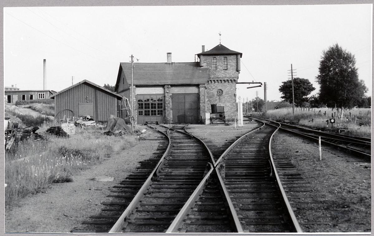Östra Centralbanans lokstall i Vimmerby.
