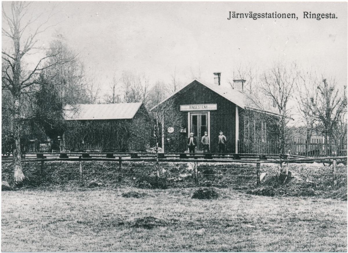 Borås - Alvesta Järnväg, BAJ. Ringesta hållplats.