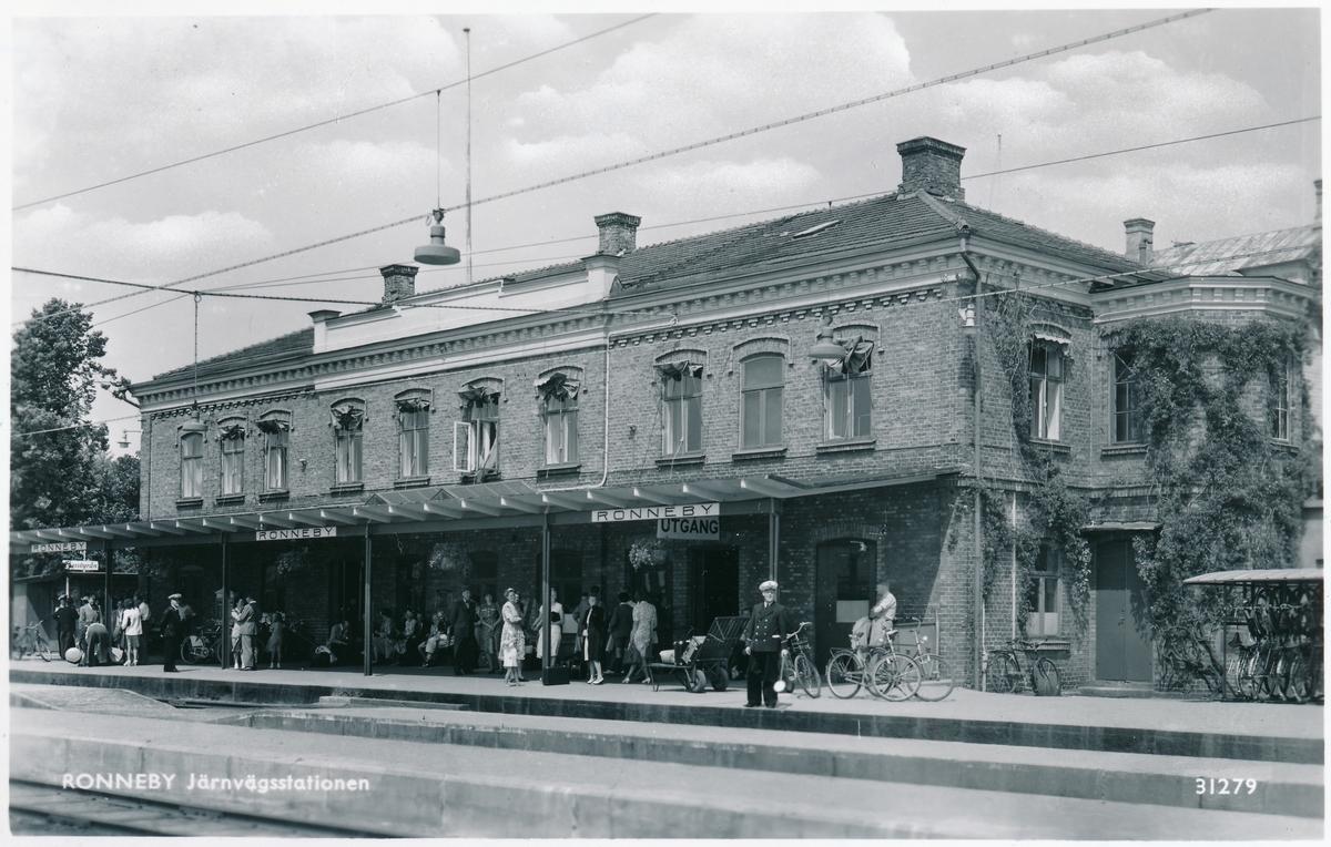 Mellersta Blekinge Järnväg, MBIJ. Ronneby station.