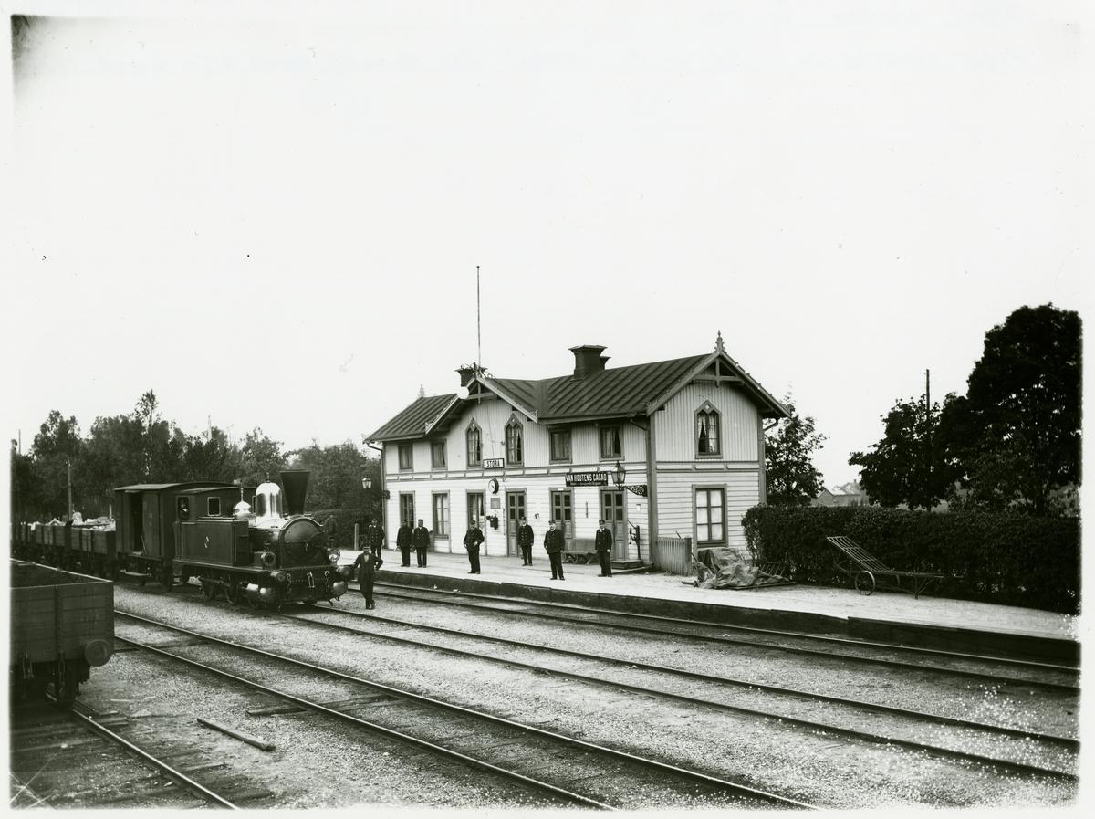 "Frövi - Ludvika Järnväg, FLJ, FLJ lok 5 ""Nerike"" Tillverkare Manning, Wardle & Co Leeds. 1872."