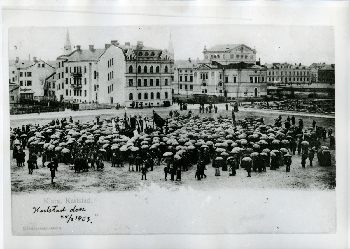 Klara, Karlstad den 28/2 1903. Kalrlstad C.