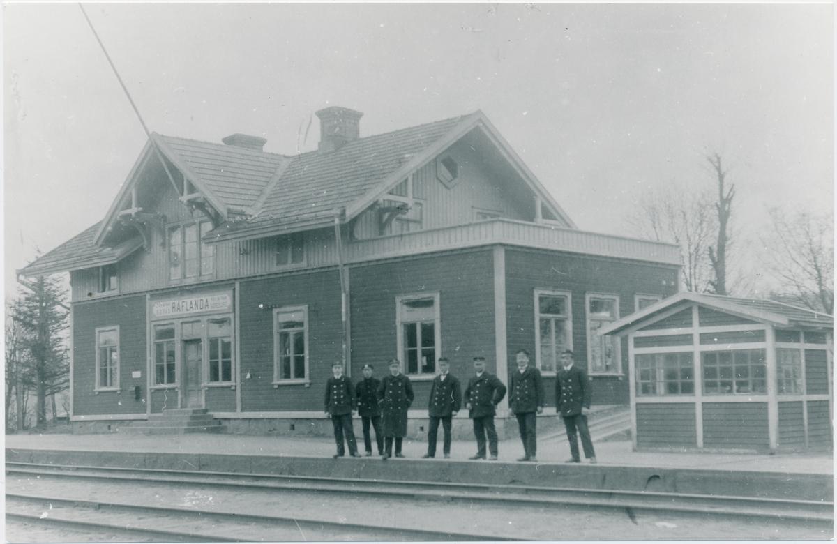 Rävlanda station, den 1 maj 1920.