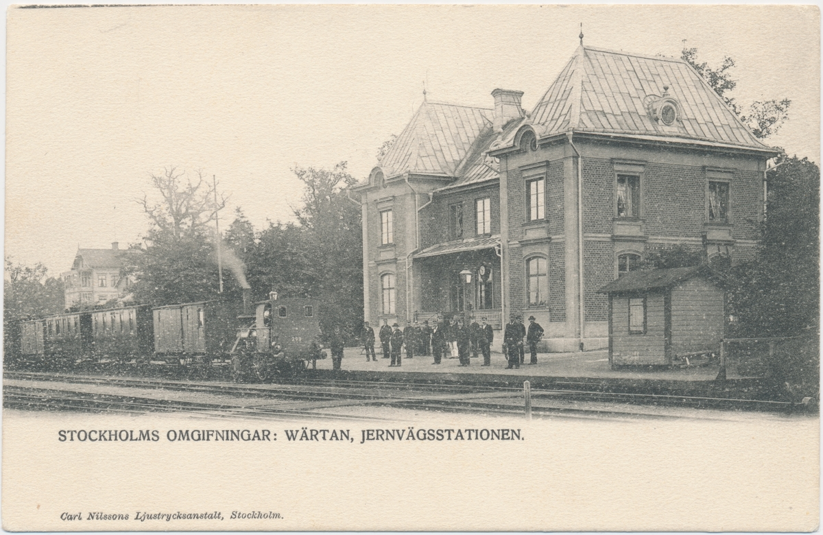 """Värtan station. Statens Järnvägar, SJ Vy 299 """"Wärtan""""."""