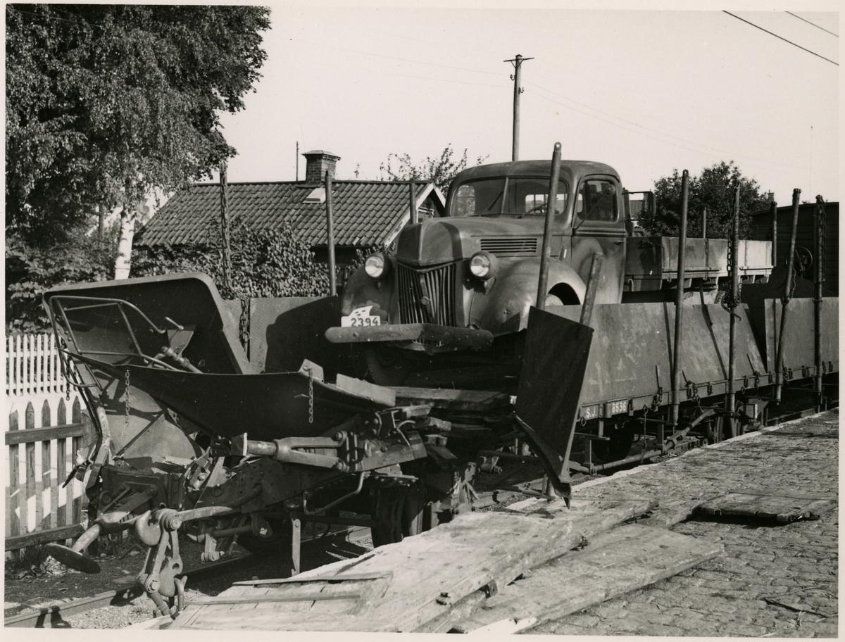 Tågolycka vid Örebro 1940.