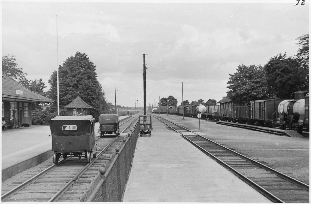 Märsta station sedd mot Uppsala.