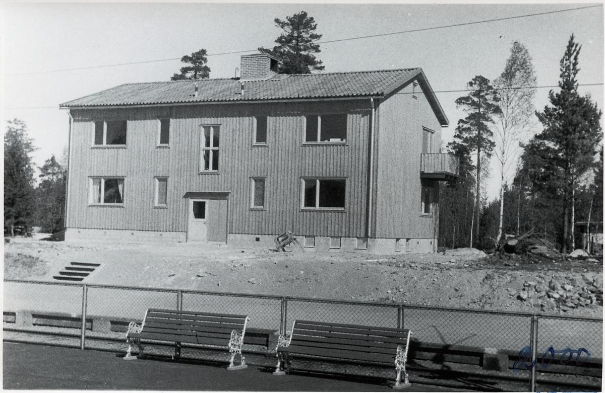 Byggnad vid Furuvik hållplats.