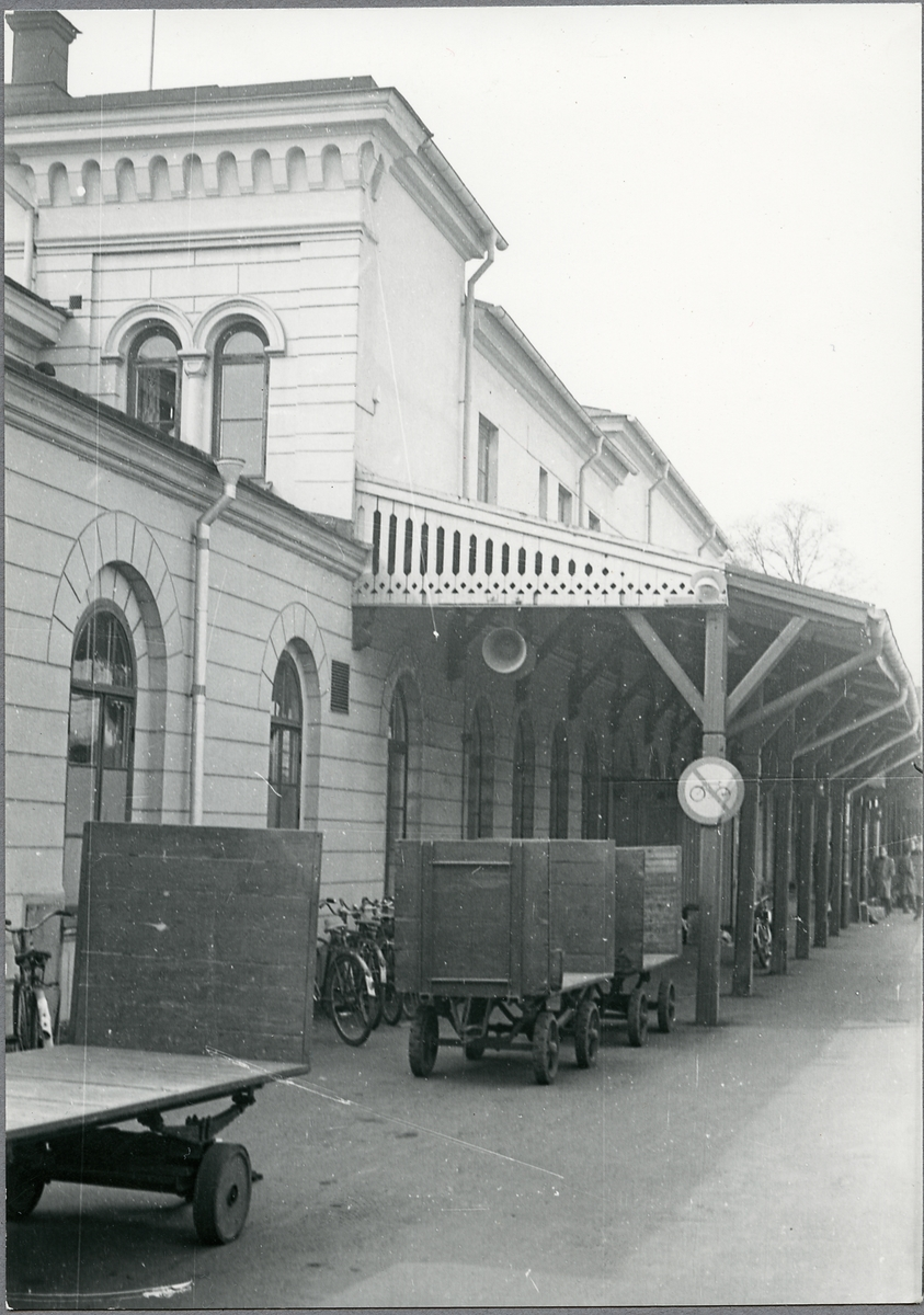 Bagagevagnar vid Norrköping C.