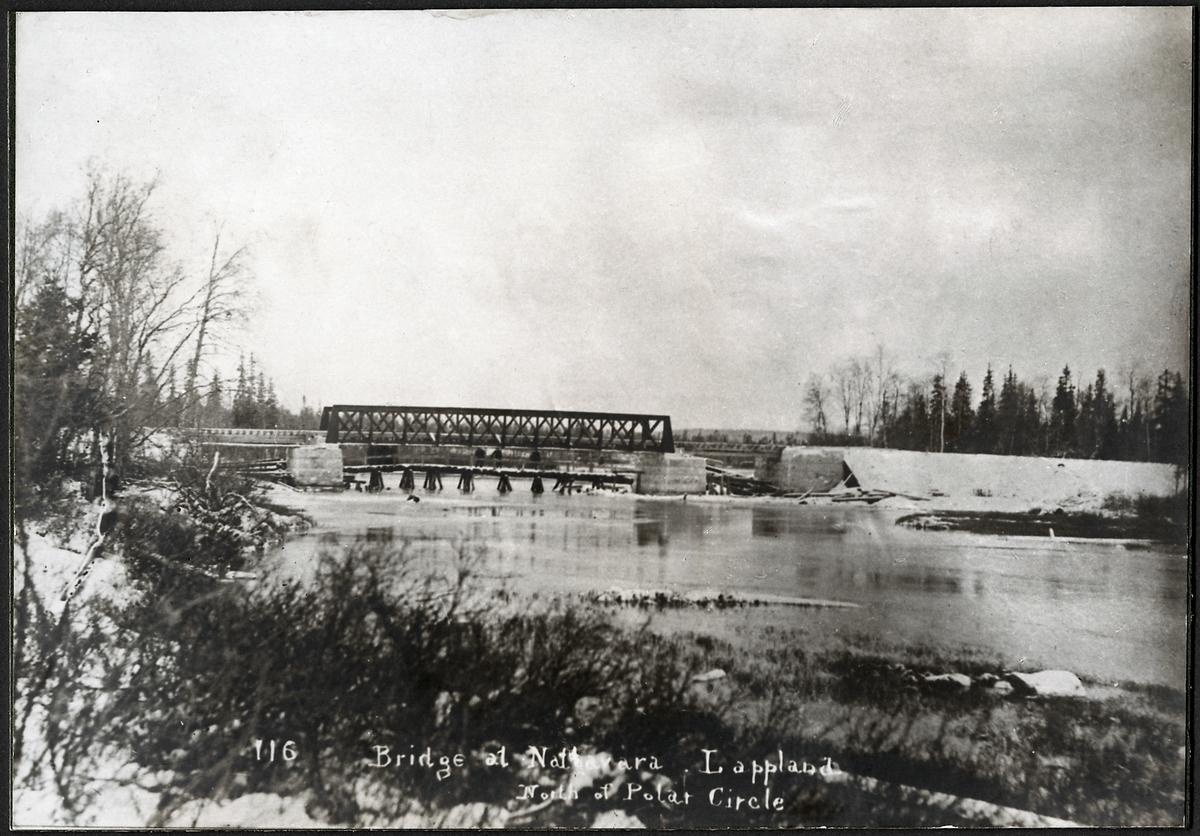 Bro över Råne älv vid Nattavaara.