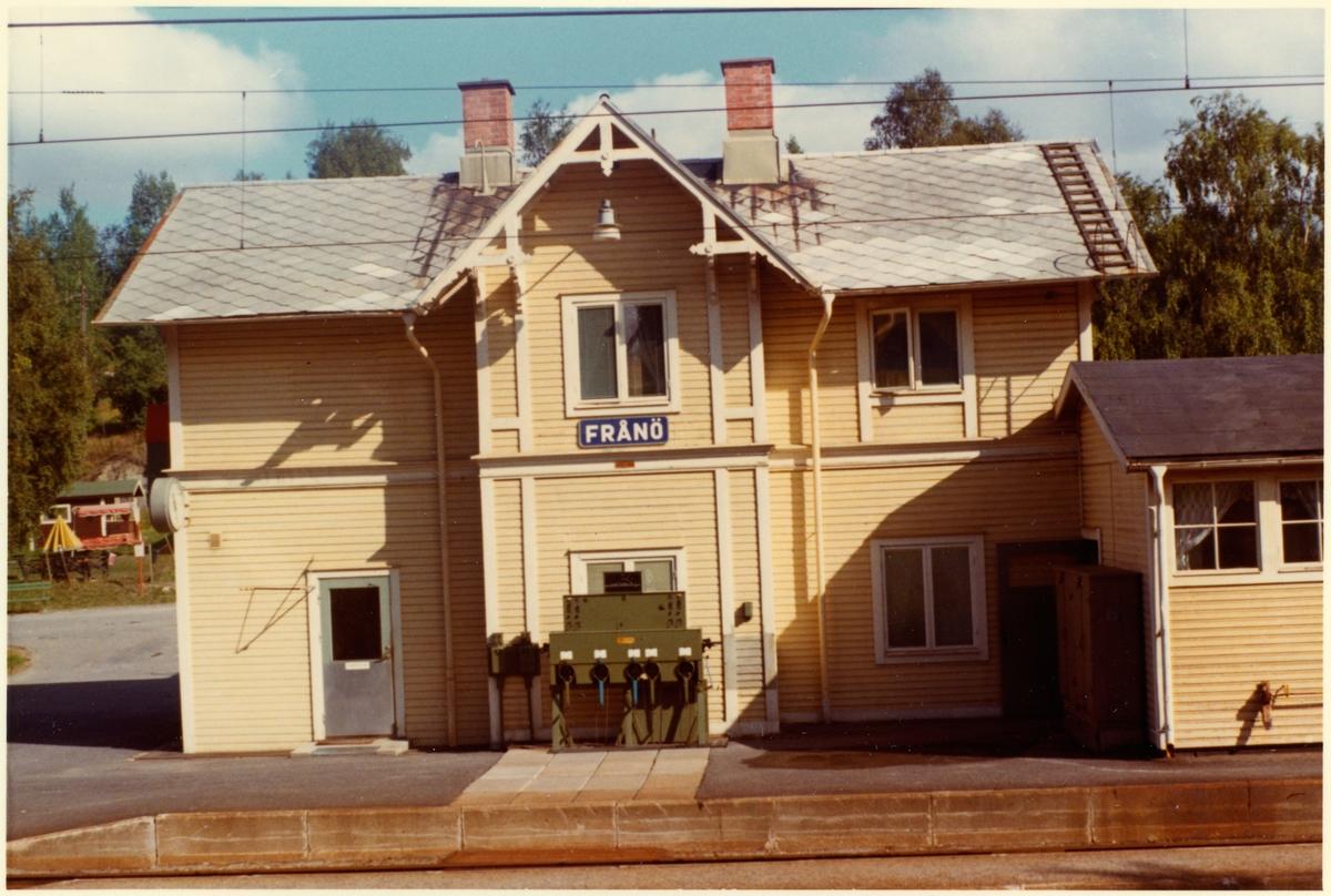 Frånö järnvägsstation.