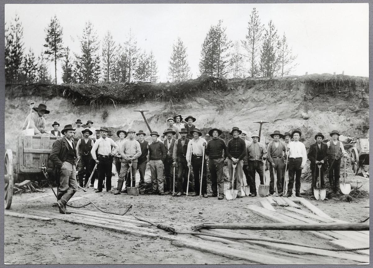Mjösjöskärningen vid byggandet av linjen Boden-Morjärv