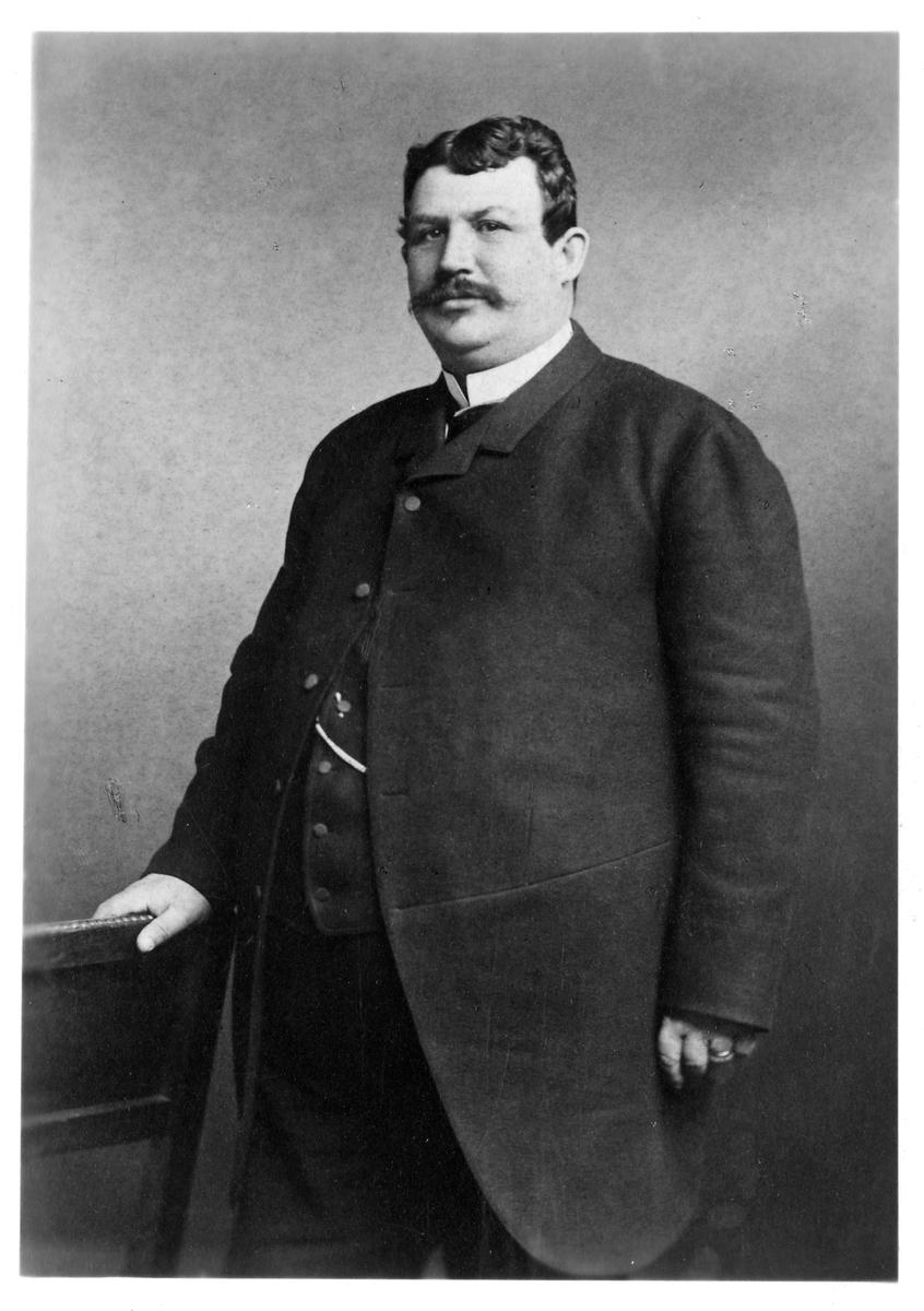 Bandirektör Wilhelm Jacob Wahren. Statens Järnvägar, SJ.