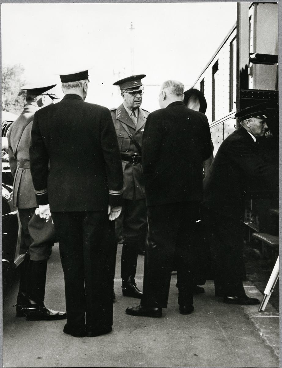 Gustaf Adolfs ankomst till Boden.