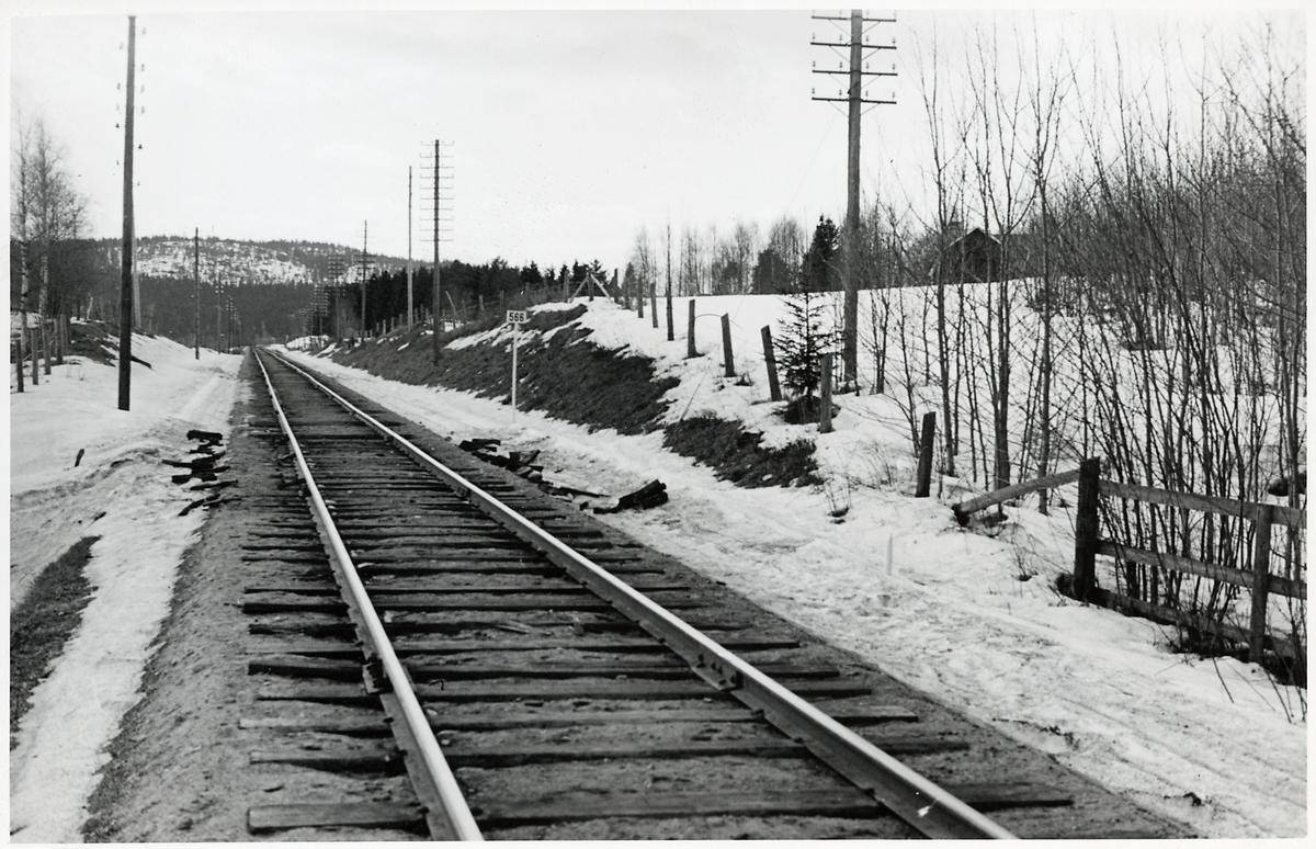 På linjen mellan Töva och Vattjom