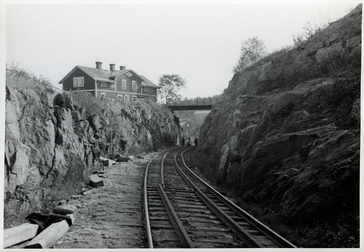 Vägbro över linjen mellan Skönvik och Sundsbruk.