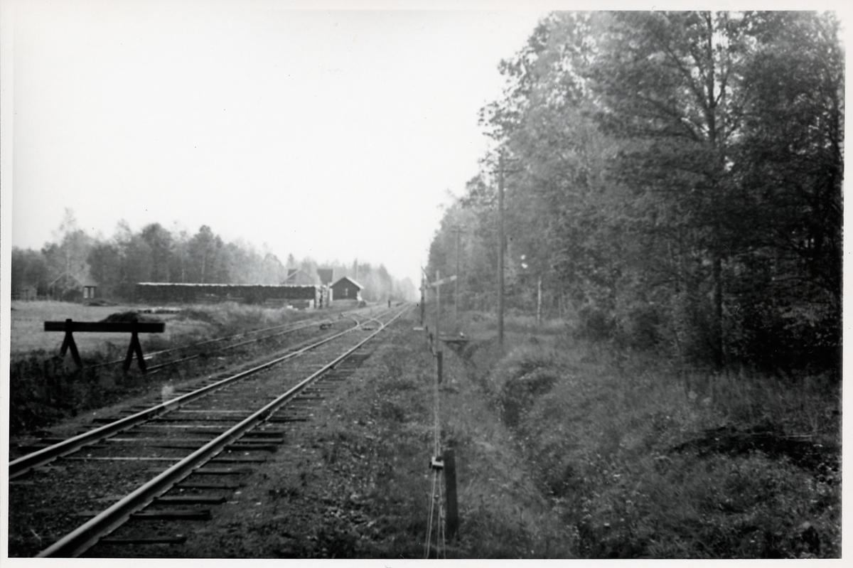 Infarten till Västrakulla station, i riktning mot Kalmar.