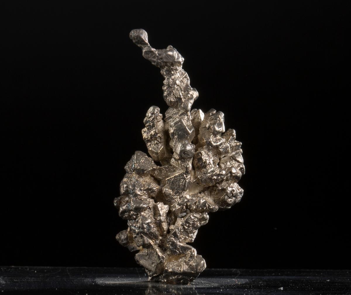 """""""Sjøplante"""" på svart plate med påskrift: """"49 gr br, 23 gr n, Sjøplante, BVM 3240"""" Vekt: 48,36 g (med sokkel), 23 g (netto) Størrelse: 5 x 4,3 x 2,5 cm"""