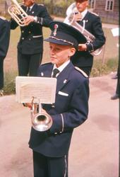 Stein Stensgård (f. 1949) spelar i Skjåk Musikklag