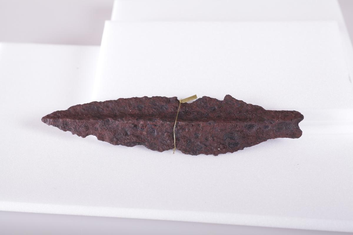 Spydspiss i jern fra eldre jernalder