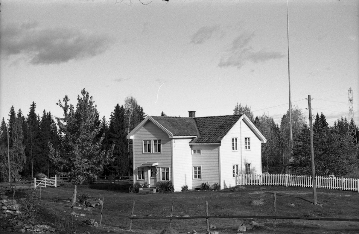 Muligens bruket Dammen på Krabyskogen. Seks bilder fra oktober 1955.