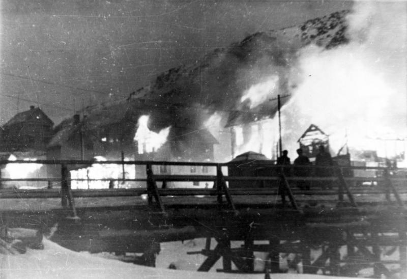 Brenningen av hammerfest 1944.