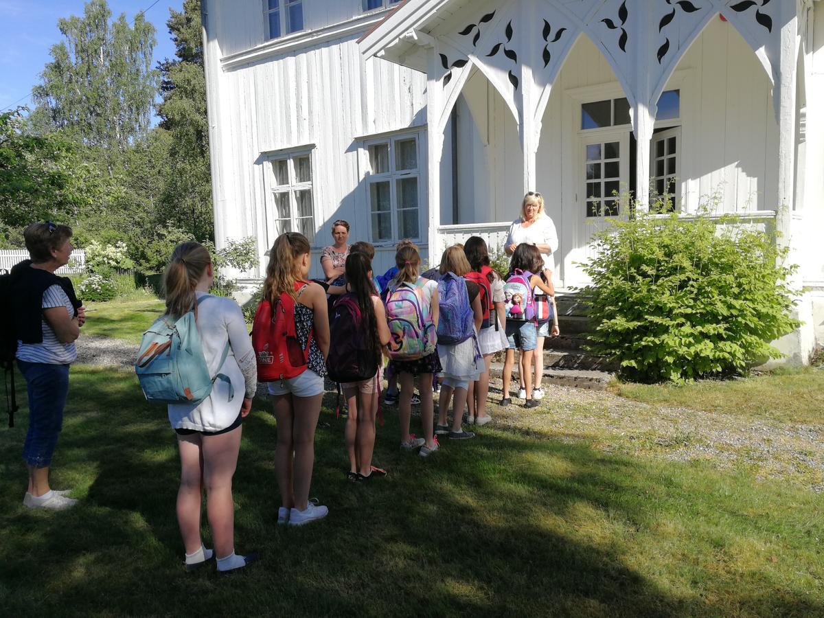 Skolemuseet på Matrand med elever