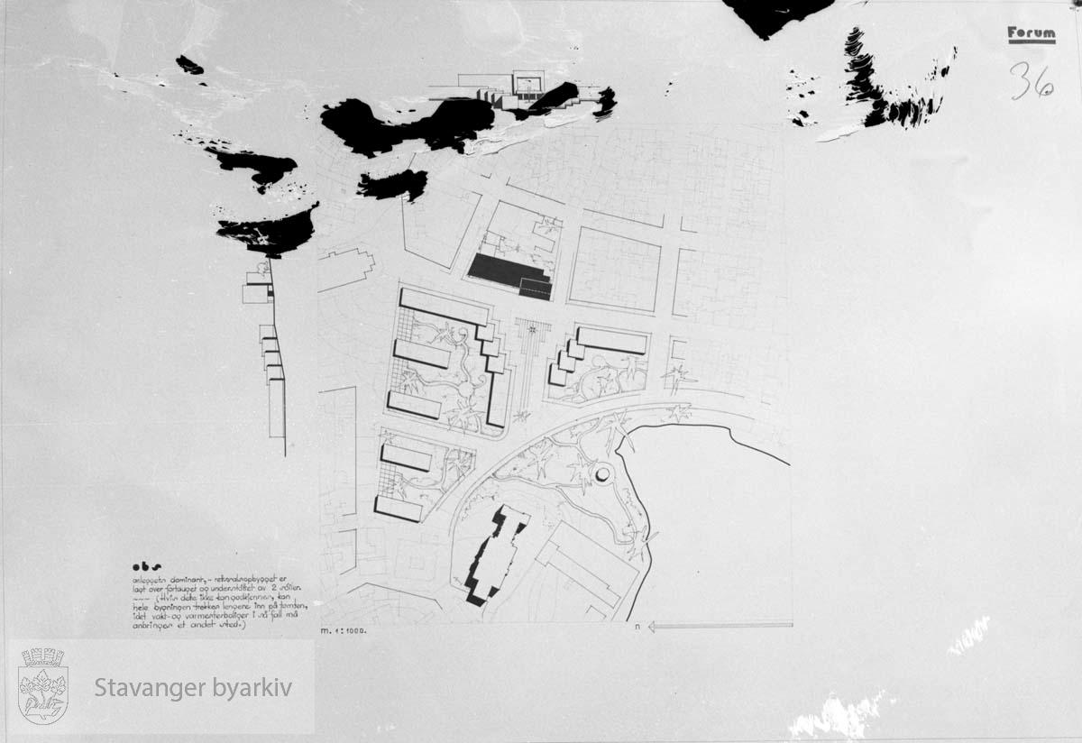 Forslag til tinghus i Stavanger Kunstforening 03.06.1937
