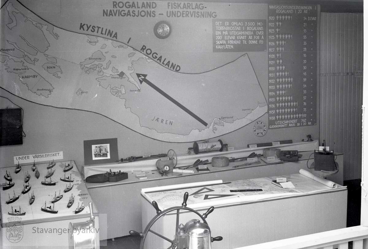 Utstilling av undervisningsutstyr for Rogaland Fiskarlag
