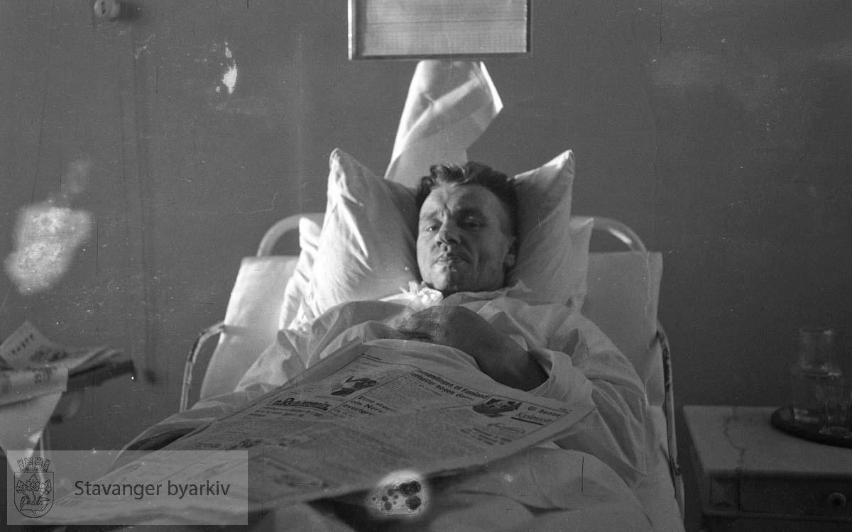 Wilhelm Andreassen sengeliggende