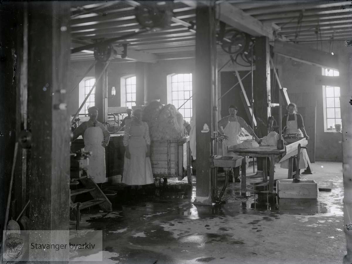 Interiør fra smørfabrikken Victoria