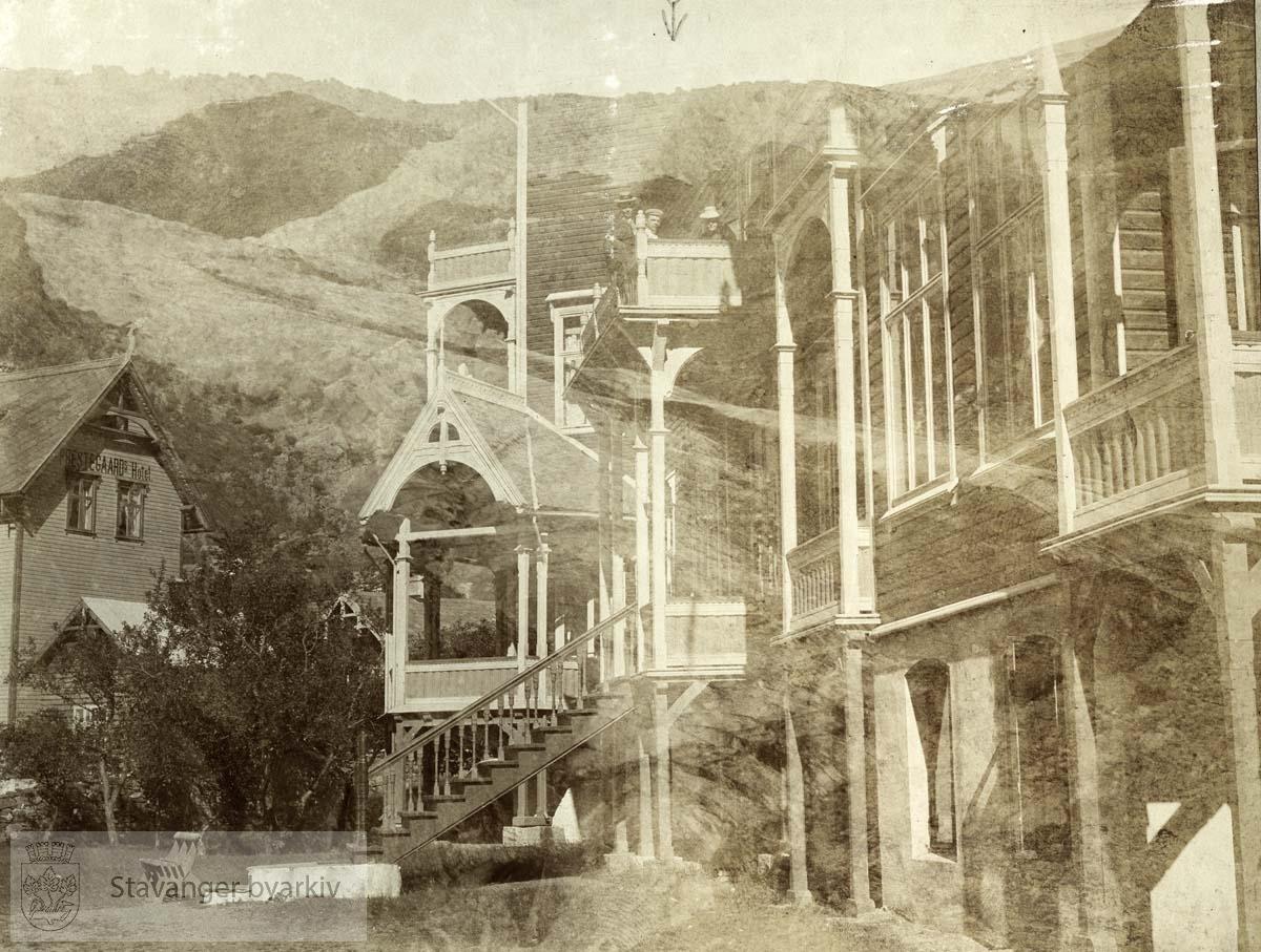 Hardanger Hotell og Buarbreen (dobbeleksponering)