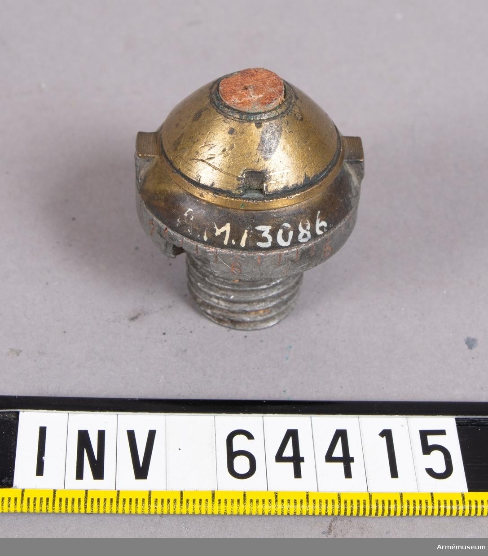 Grupp F II.  Till räfflad bakladdningskanon m/1863. Täckhylsa saknas.