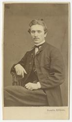 Porträtt av ingenjör Oscar Wickman.
