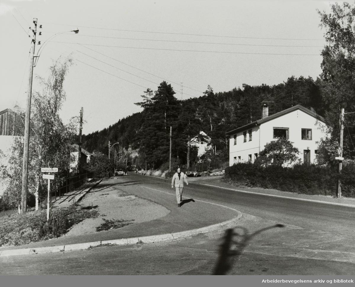 Grorud. Bergensveien. Oktober 1979