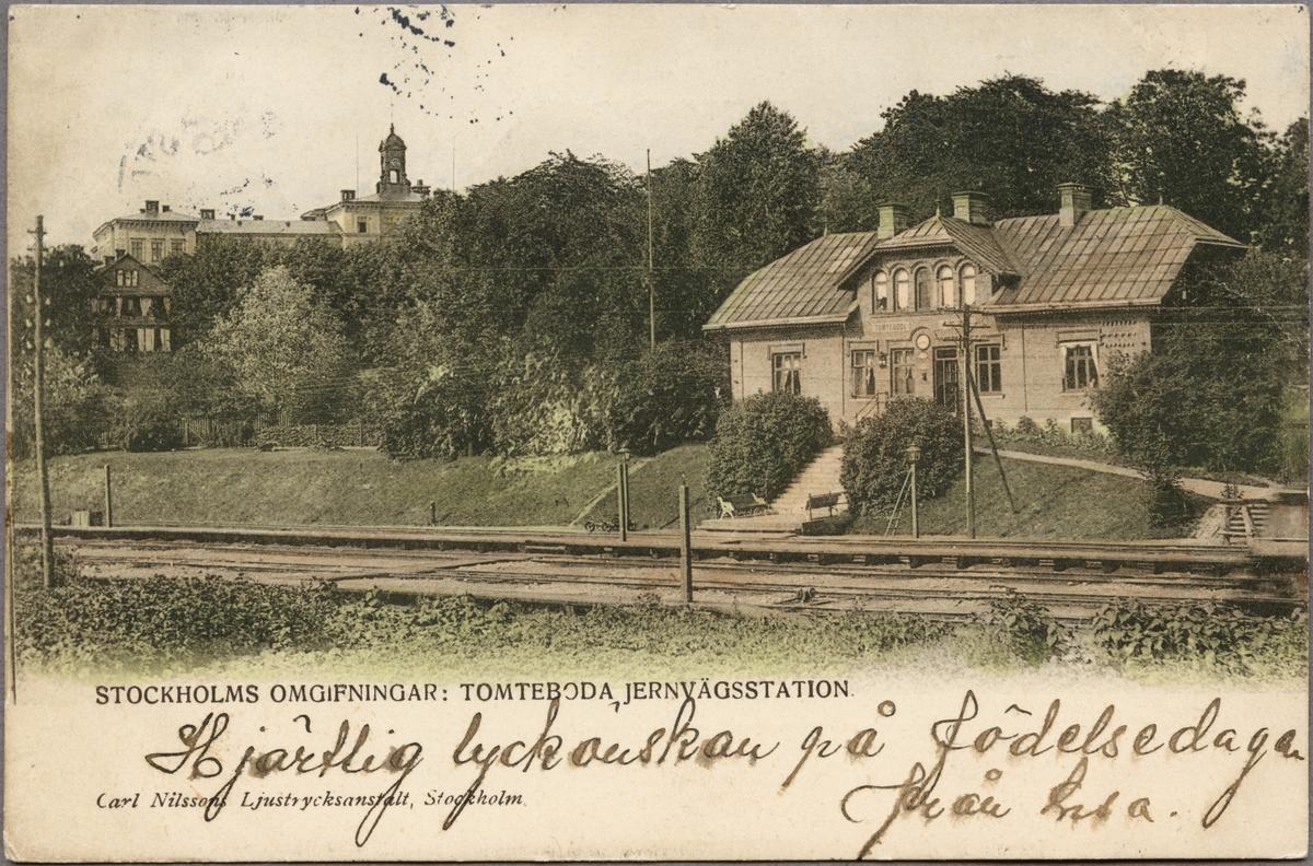 Tomteboda station.