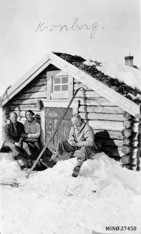 Påskeutflukt. Johan Mo, Maja Baumann og Jarne Koksvik. Fotograf ukjent.