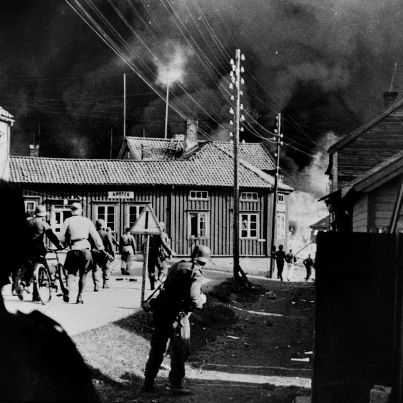 Bombingen av Vadsø (Foto/Photo)