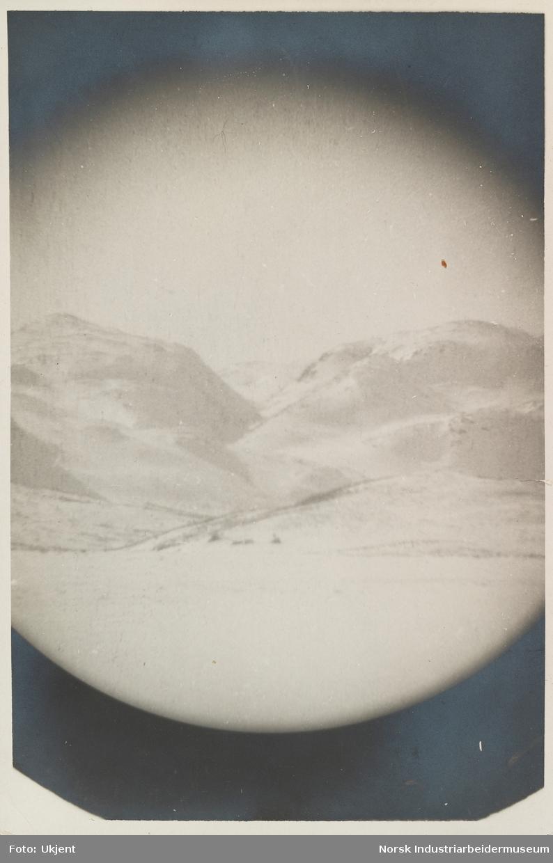 Vinterlandskap i fjellet