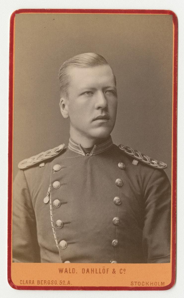 Porträtt av Carl Henrik Ulrik Scheffer, underlöjtnant vid Skaraborgs regemente I 9.