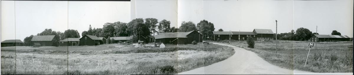 Huddunge sn, Huddungeby. Huddunge radby från sydost, 1992.