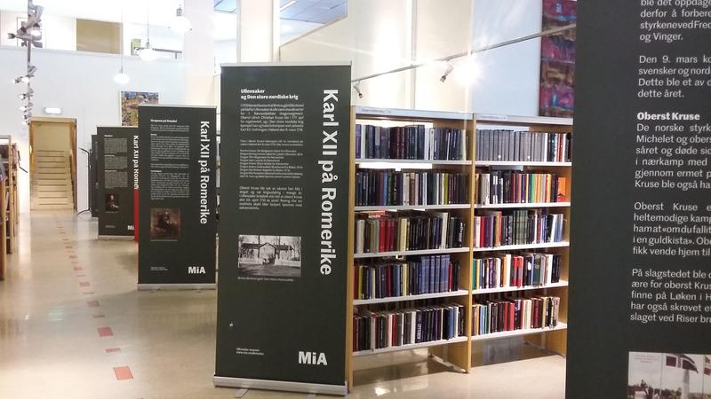 Karl 12 utstilling på biblioteket (Foto/Photo)