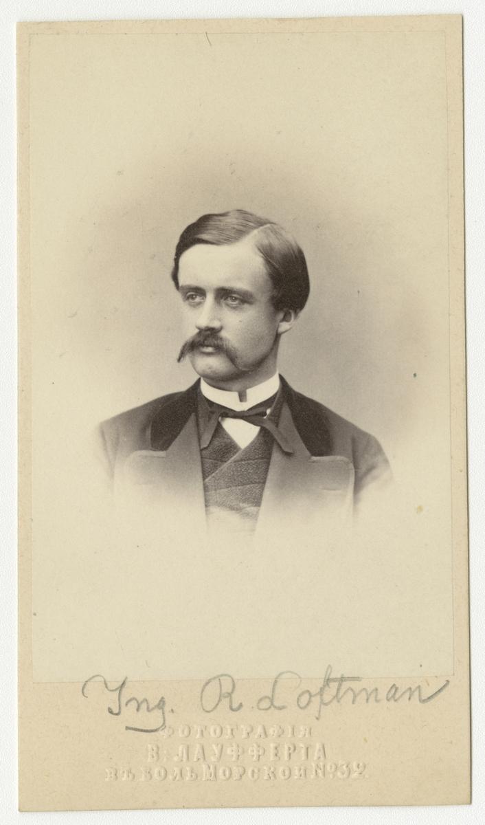 Porträtt av ingenjör Reinhard Richard Låftman.