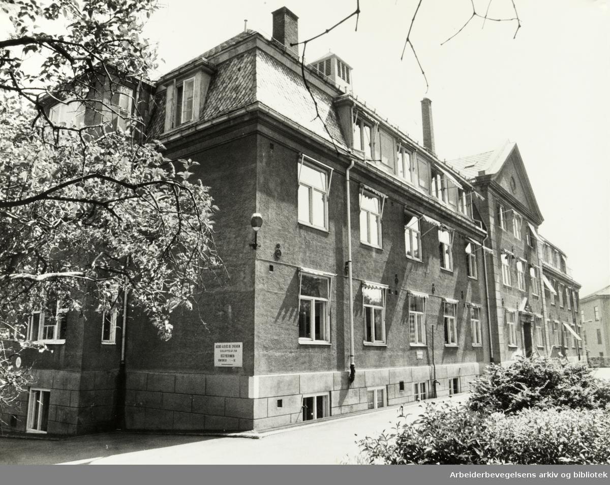 Jacob Alders- og Sykehjem. Jacobshjemmet. Juli 1979