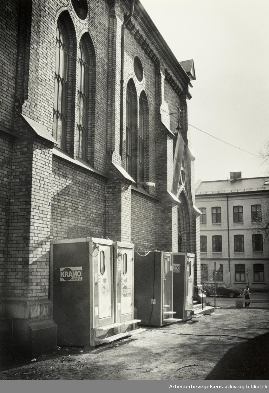 Jacobs kirke. April 1988