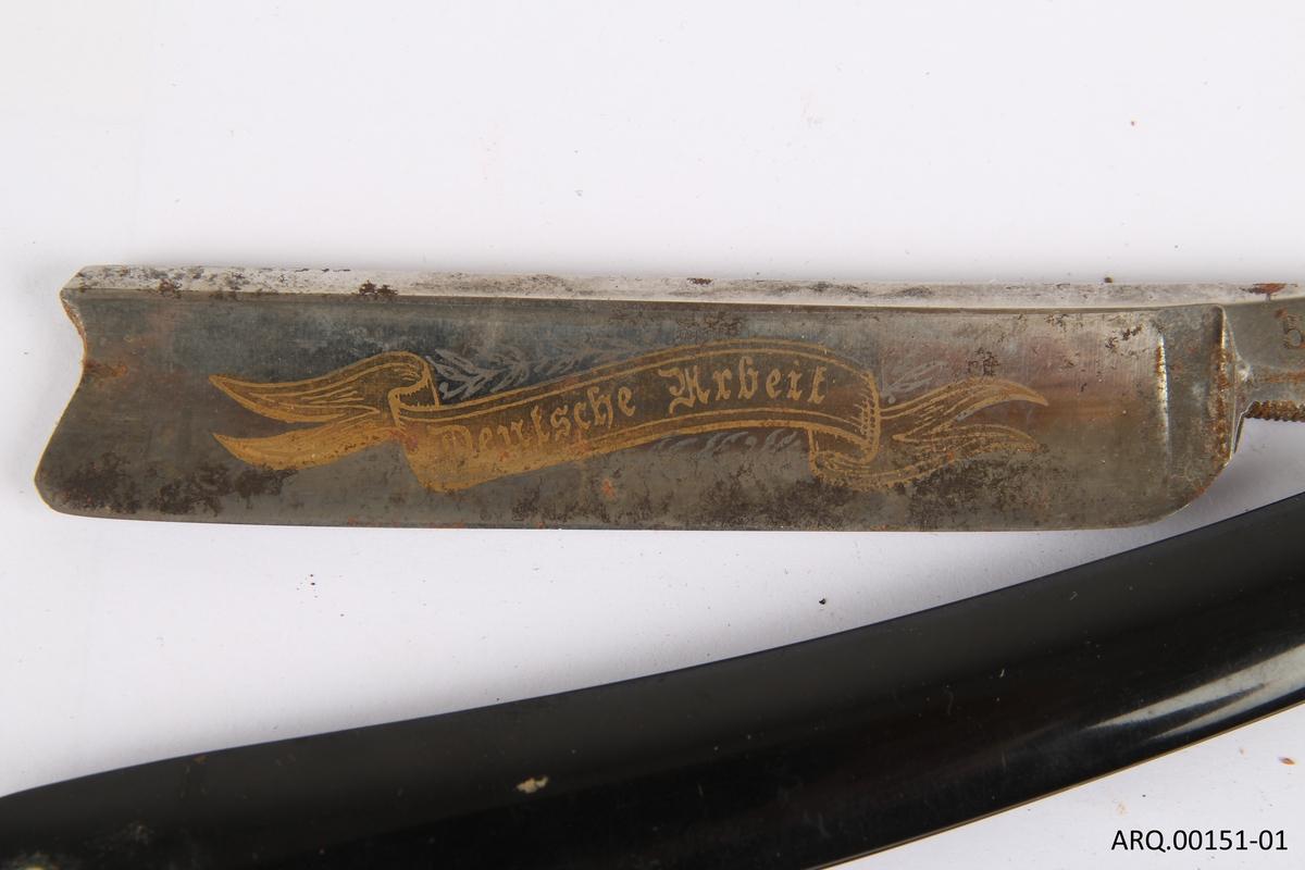 Sammenleggbar barberkniv