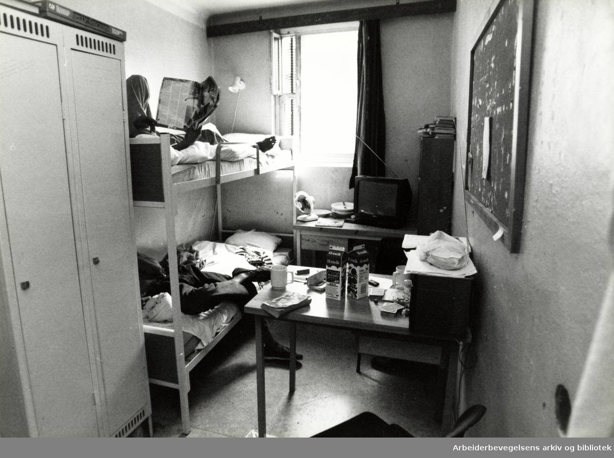 Kretsfengselet, Botsfengselet. Fengselcelle. August 1990
